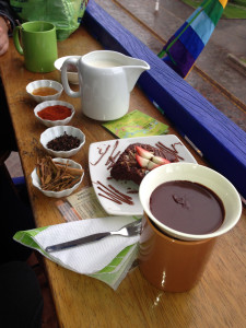 Make your own hot chocolate, Chocolate Museum in Cusco